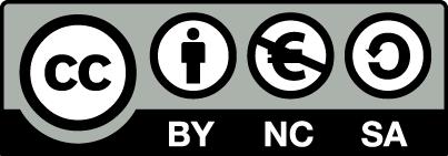 Logo: Lisenssi, Nimeä-EiKaupallinen-JaaSamoin 4.0 Kansainvälinen. Linkki Creativecommons.org sivustolle.